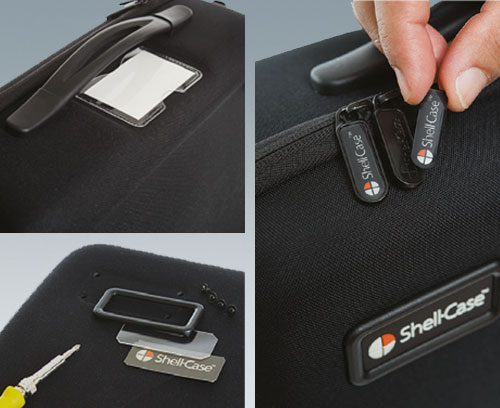 the carry cases can be fitted with logos or nameplates