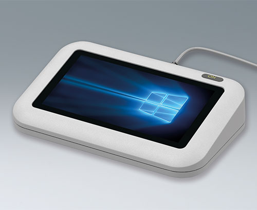 EVOTEC desktop enclosure with touchscreen