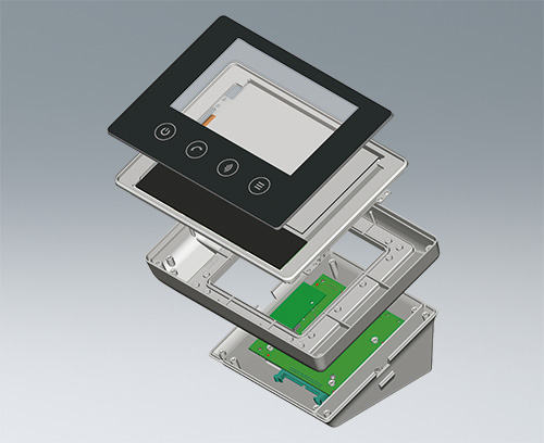 modular systems: enclosure with touchscreen