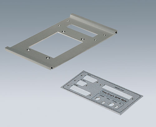 Aluminium plate with cutouts