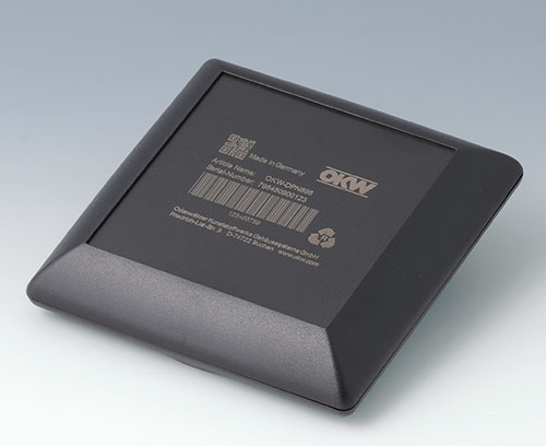 ART-CASE made of ABS (UL 94 HB), black with laser marking